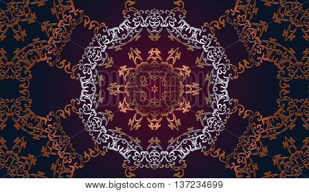 decorative tracery seamless pattern embossed bronze for design