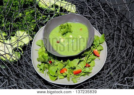 Special garlic and green chili sauce that serving in the restaurant