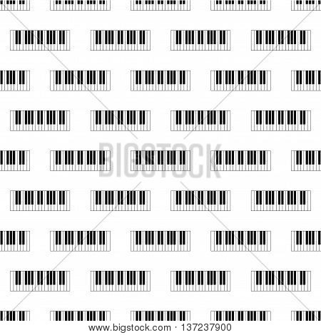 Seamless wallpaper pattern with piano keys, octave