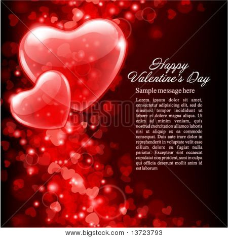 Valentine's day vector background with abstract hearts