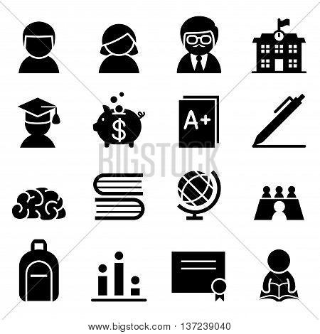 Scholarship Icon set Vector illustration Graphic design