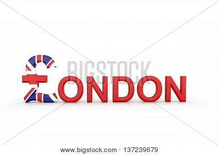 Text London With Currency Symbol