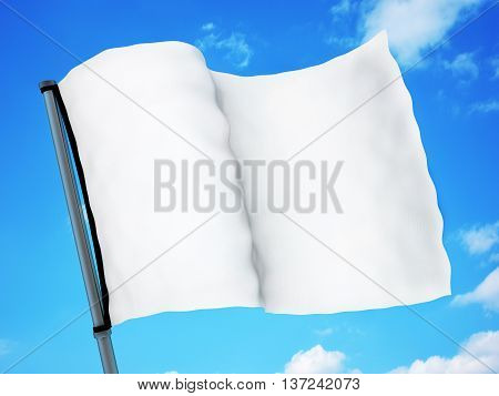 White flag and sky (done in 3d rendering)