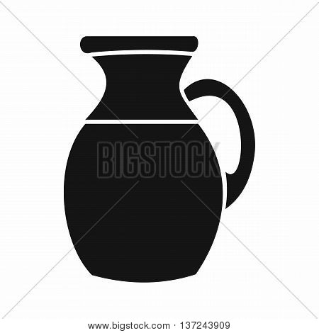 Jug of milk icon in simple style isolated vector illustration. Dishes symbol