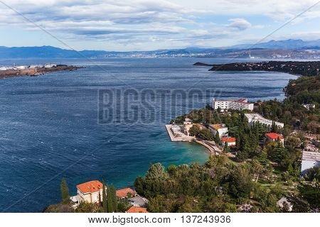 Island Archipelago View Near Krk Island
