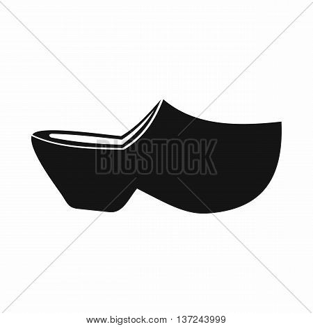 Clogs icon in simple style isolated vector illustration. Shoes symbol