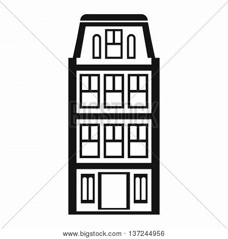 Dutch houses icon in simple style isolated vector illustration. Structure symbol