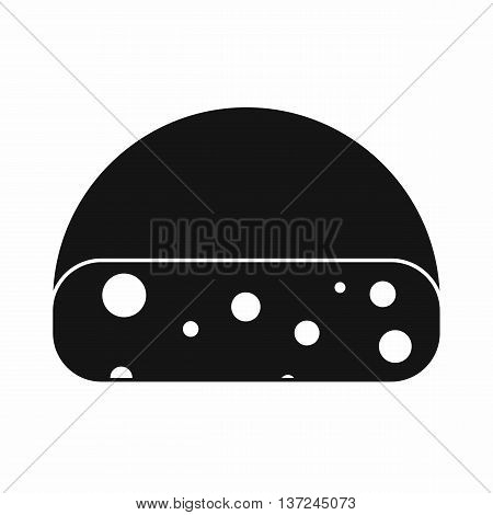 Dutch cheese icon in simple style isolated vector illustration. Food symbol