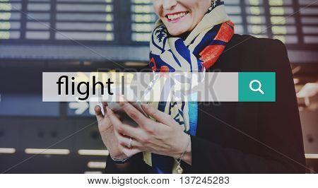 Flight Arrival Departure Business Schedule Trip Concept