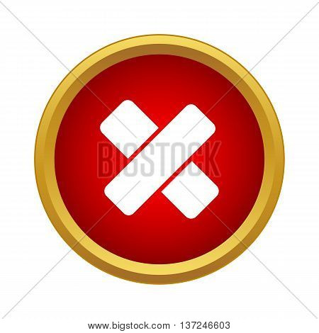 First aid medical plaster icon in simple style on a white background