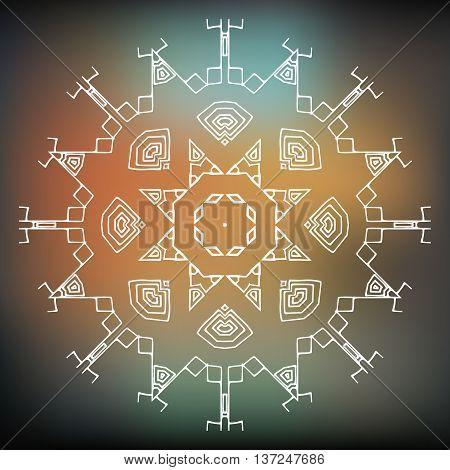 Tribal element ethnic or aztec stile. Vector icon logo design Brand identity
