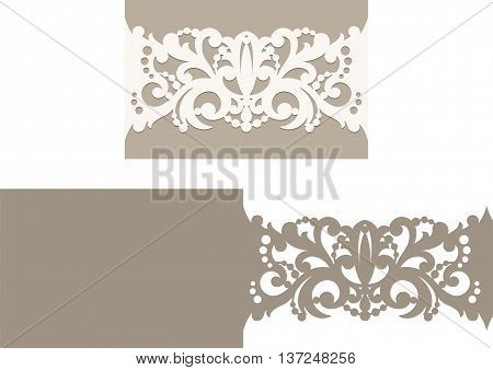 Laser Cut Envelope Template For Invitation Wedding Card2.eps