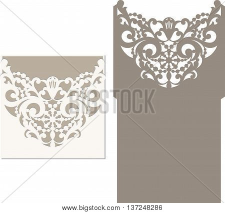 Laser Cut Envelope Template For Invitation Wedding Card5.eps