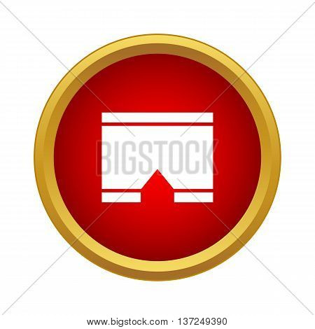 Shorts icon in simple style on a white background