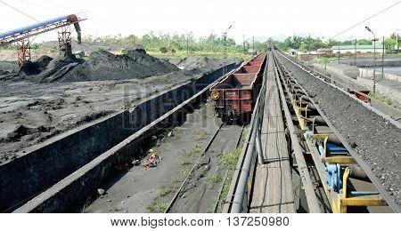 Quang Ninh, Vietnam, June 19, 2016 coal mining, Mao Khe Coal Company, Quang Ninh province, Vietnam