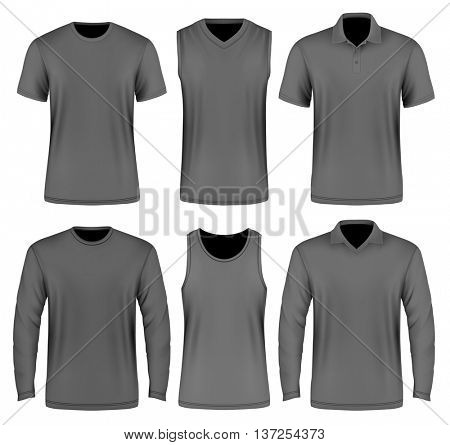 Collection of men's clothes. Fully editable handmade mesh.