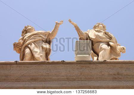 Vatican city. Papal Basilica of St. Peter.