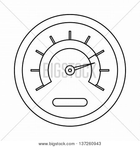 Speedometer icon in outline style isolated vector illustration. Auto spare parts symbol