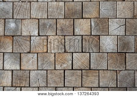 inlaid wooden tiles as the background conceptual in nature