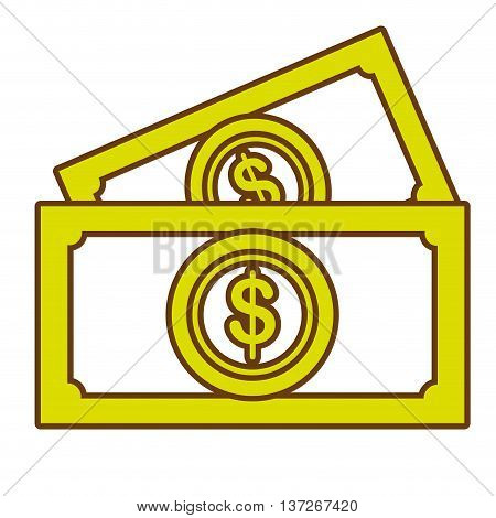 Billets isolated flat icon, money and business concept design.