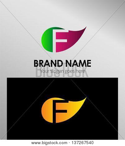 Letter F logo  template design element vector