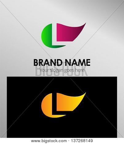 Leaf icon Logo Letter L template design vector