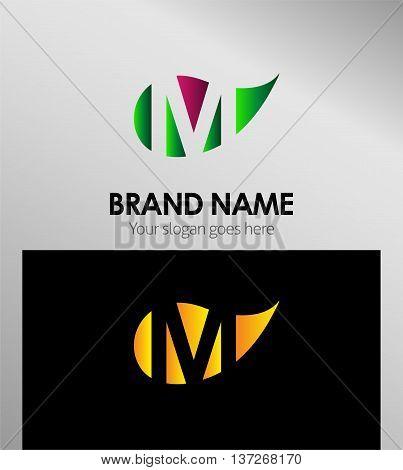 M letter Eco logo M letter Eco logo