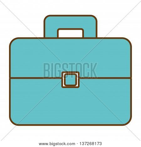 Business blue briefacase isolated icon, vector illustration graphic design.