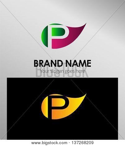 P letter Eco logo P letter Eco logo