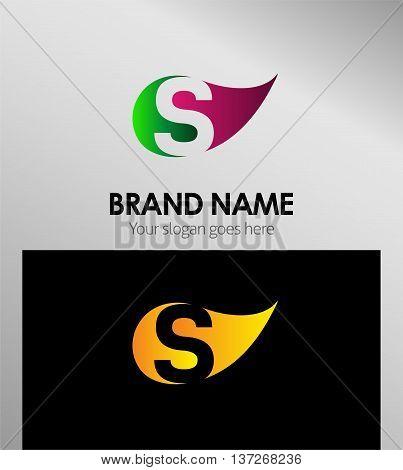 S letter Eco logo S letter Eco logo