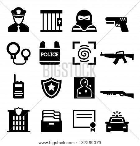 Police icon set vector illustration graphic design