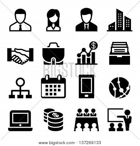 business icon set Vector illustration Graphic design