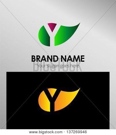 Y letter Eco logo Y letter Eco logo