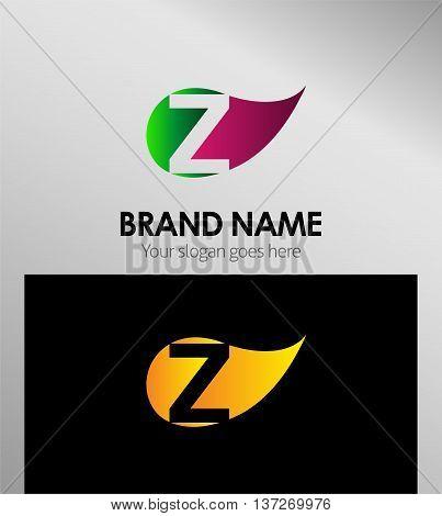 Z letter Eco logo Z letter Eco logo
