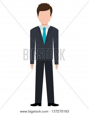 Businessman executive cartoon theme design, vector illustration graphic.