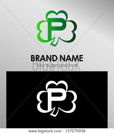 Alphabetical Clover Logo Design Concepts. Letter P