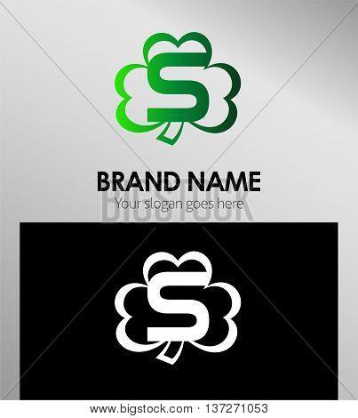 Alphabetical Clover Logo Design Concepts. Letter S