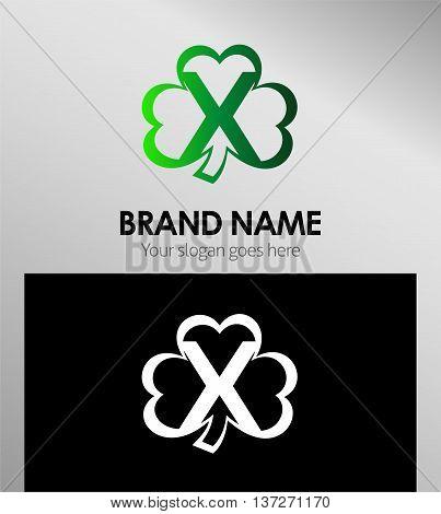 Alphabetical Clover Logo Design Concepts. Letter x