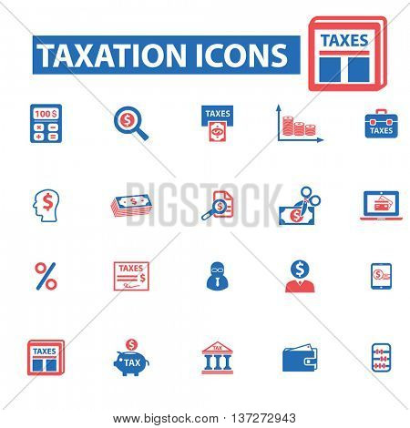 tax time icons, signs vector