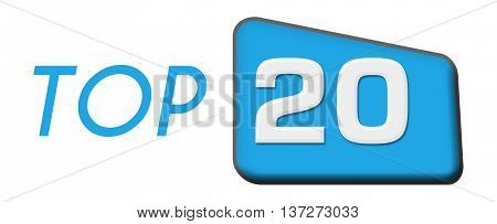 Top 20 text written over blue triangle background.