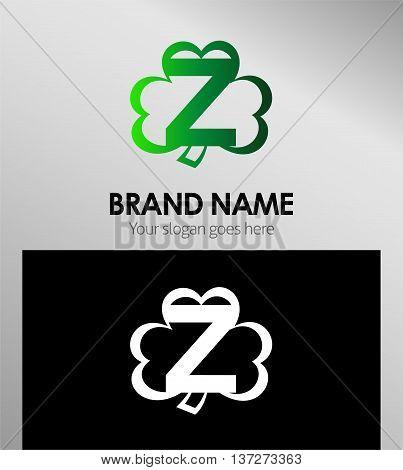 Alphabetical Clover Logo Design Concepts. Letter Z
