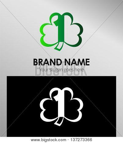 Number 1 logo. Vector logotype design template design vector