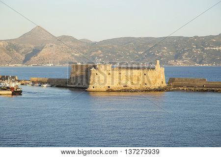 Venetian fortress Koules in Heraklion Crete - view from the sea