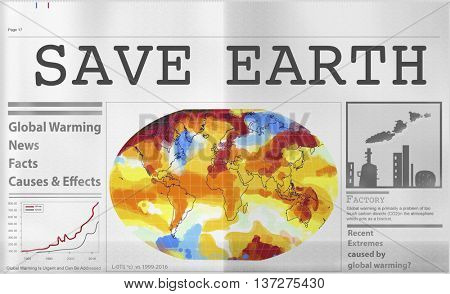 Global Warming Pollution Greenhouse Effect Concept