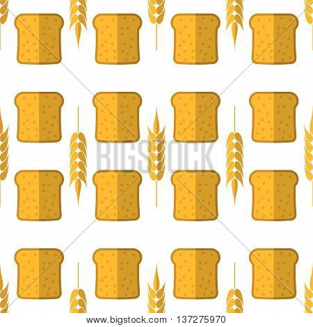 Bakery Seamless Pattern. Food Background. Fresh Baked Products
