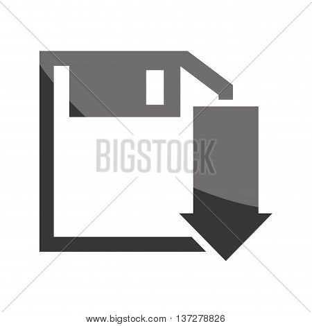 Download isolated icon in black and white colors, vector illustration graphic.