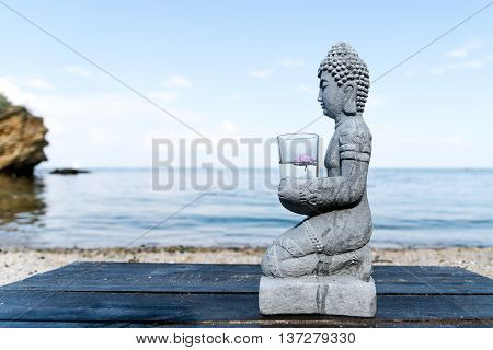 Buddha Statue Near The sea. Spa. Zen