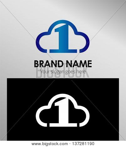 Symbol Number one 1 logo icon template