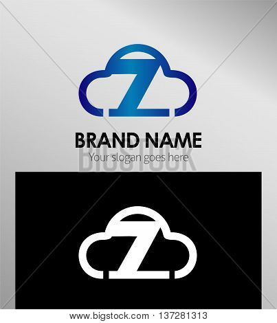 Symbol Number seven 7 logo icon template elements, vector