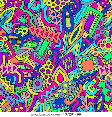 Doodle Abstract Ethnic Elements Trendy Summer Pattern 1